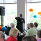 Hallerin Hilton Hill speaks at a Child & Family Tennessee event.