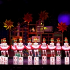 The Radio City Hall Rockettes perform on stage at the Grand Ole Opry House.