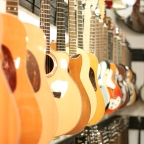 Guitars on display at Gruhn Guitars