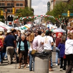 Opera and culture lovers flood the streets of downtown Knoxville.