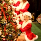 Photo of Radio City Hall Rockettes at Opryland for newspaper article on A Country Christmas at the resort